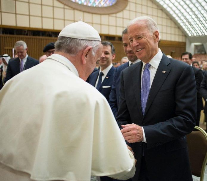 Popiežiaus Pranciškaus ir Joe Bideno susitikimas Vatikane