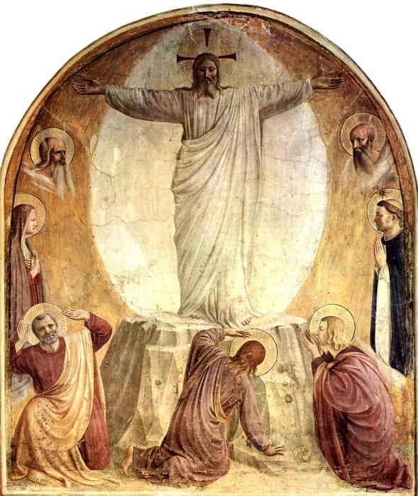 Mokiniai suklupę prie Kristaus kojų
