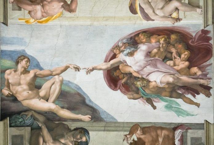 Mikelandželo Dievo Kūrėjo freska