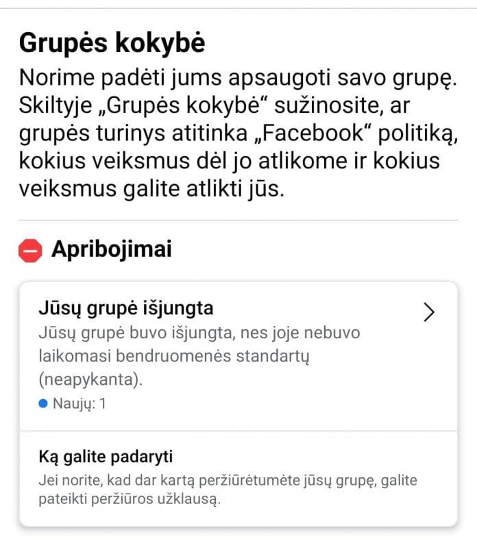 """""""Facebook"""" išjungė Lietuvos tėvus vienijančią grupę"""