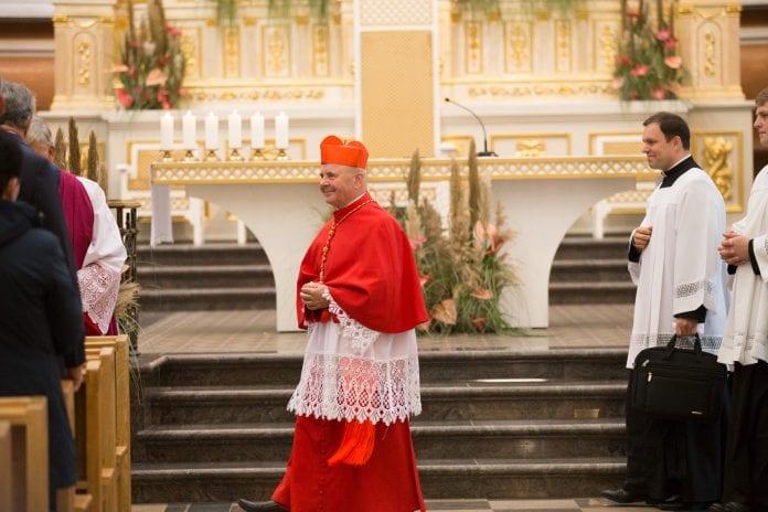 Kauno arkivyskupas emeritas, kardinolas Sigitas Tamkevičius eina