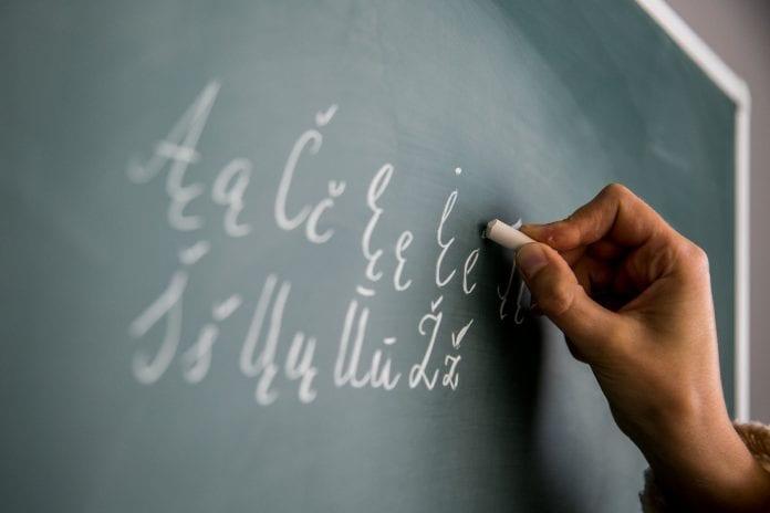 Rašo lietuviškos abėcėlės raides