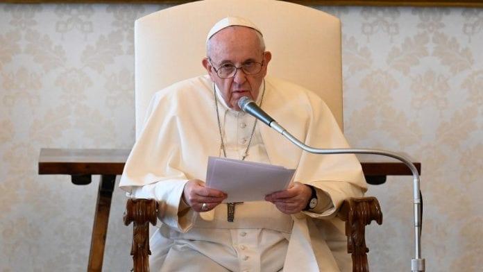Popiežius Pranciškus katechezės metu kalbėjo metu