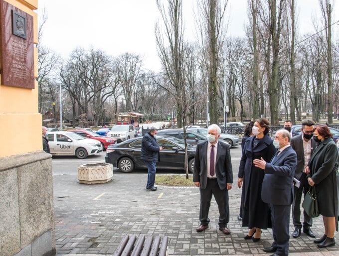 Diana Nausėdienė vizito Kijeve metu