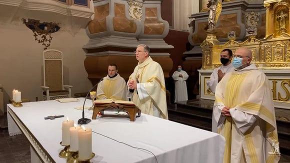 Kauno arkivyskupas Kęstutis Kėvalas per rekolekcijas