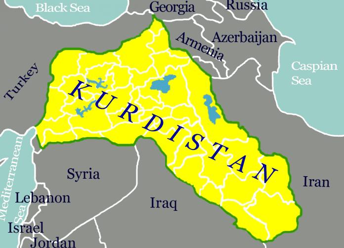 Kurdistano autonominio regiono teritorija