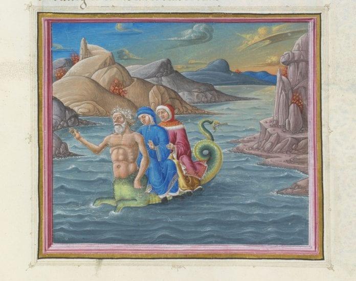 Paveikslas iš parodos skirtos Dantei / Urb. lat. 365, XVII-XVIII