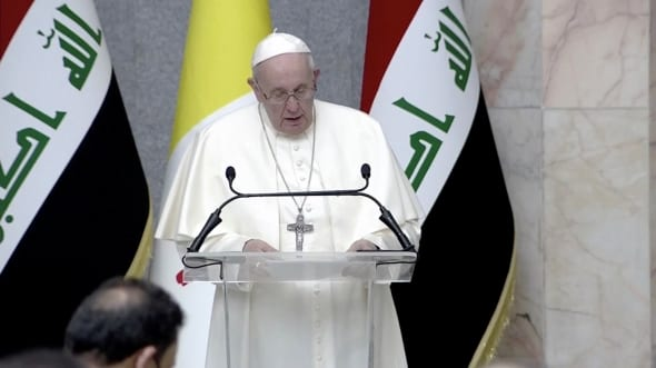Popiežius Pranciškus atvyko į Iraką