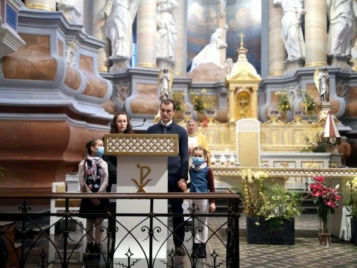 Kauno arkikatedroje melstasi už šeimas, tėvus ir vaikus