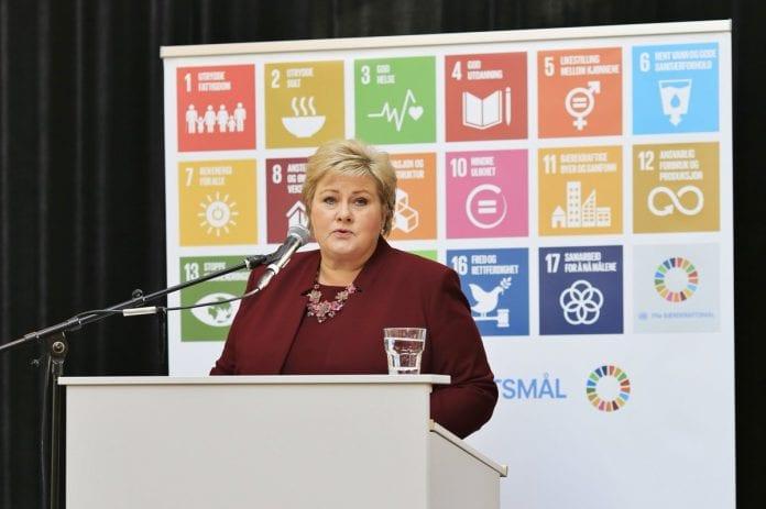 Norvegijos premjerė Erna Solberg