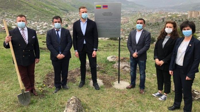 Ministras Gabrielius Landsbergis Armėnijoje