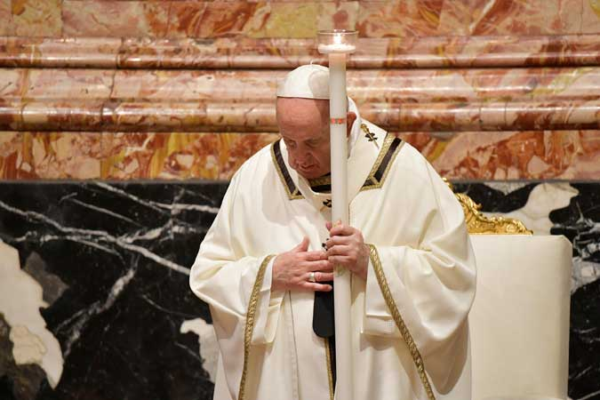 popiežius Pranciškus šv. Velykos