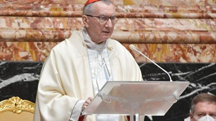popiežiaus bendradarbis kardinolas Pietro Parolin
