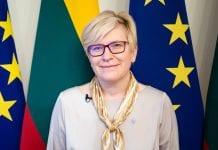 Ministrė Pirmininkė Ingrida Šimonytė pozuoja