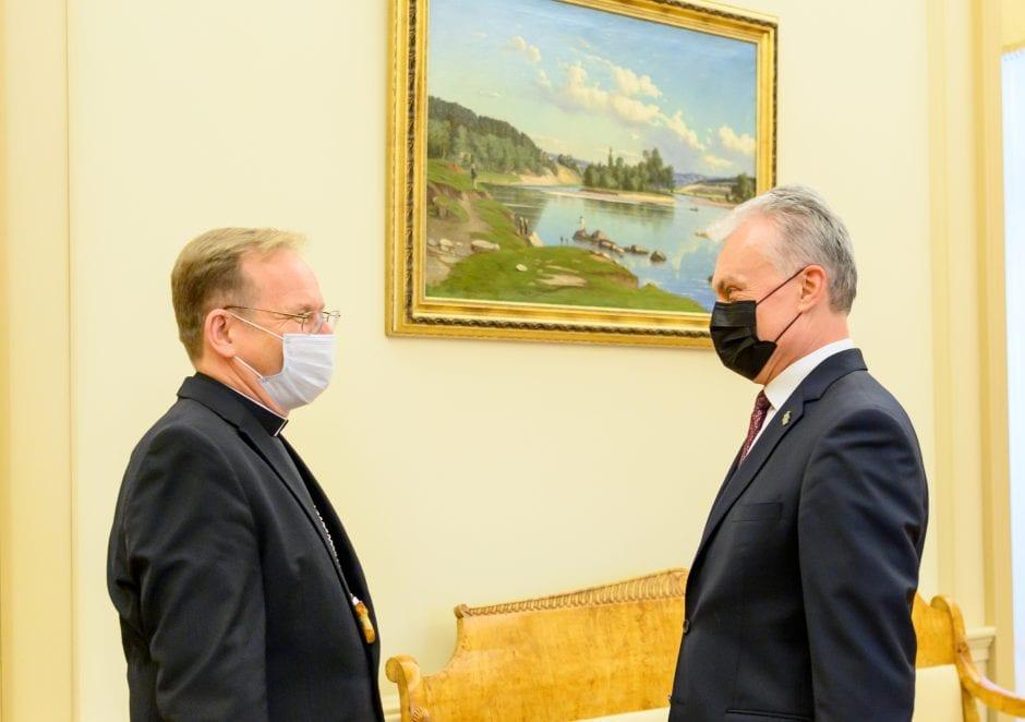 Prezidentas susitiko su tradicinių krikščioniškųjų bendrijų vadovais / Lietuvos Respublikos Prezidento kanceliarijos