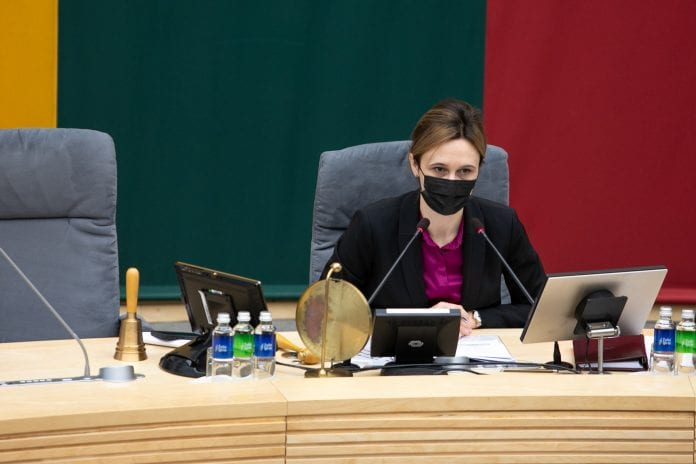 Seimo pirmininkė Viktorija Čmilytė-Nielsen