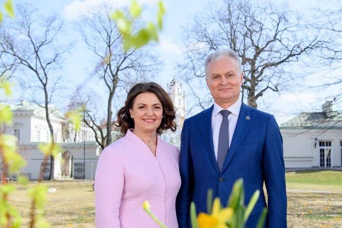 Prezidentas Gitanas Nausėda ir ponia Diana Nausėdienė