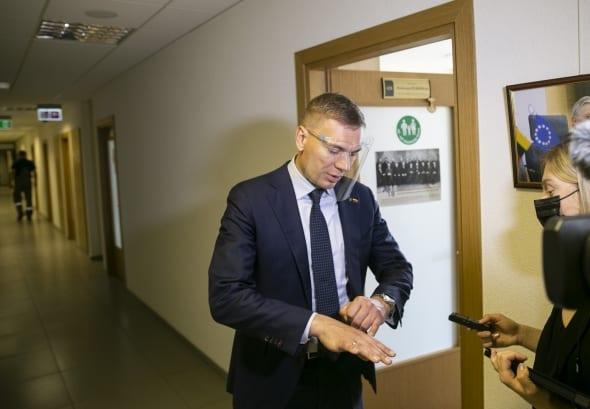 Seimo nario M. Puidoko kabinete STT pareigūnai atliko kratą