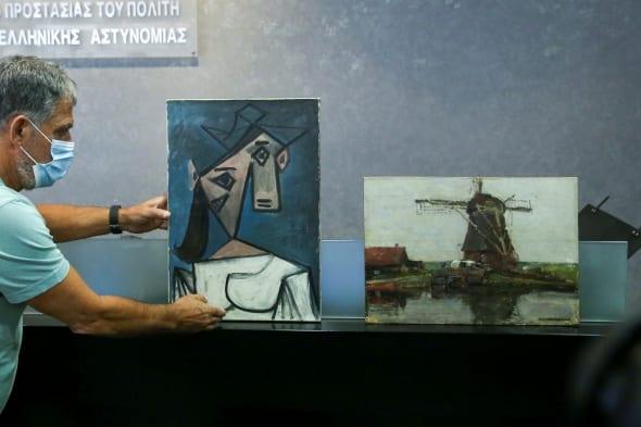 Graikijos atgautas Pablo Picasso paveikslas
