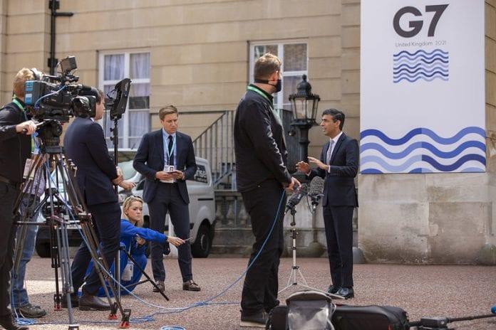 G-7 spaudos konferencija