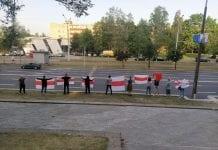 Baltarusijos palaikymo akcija Minske