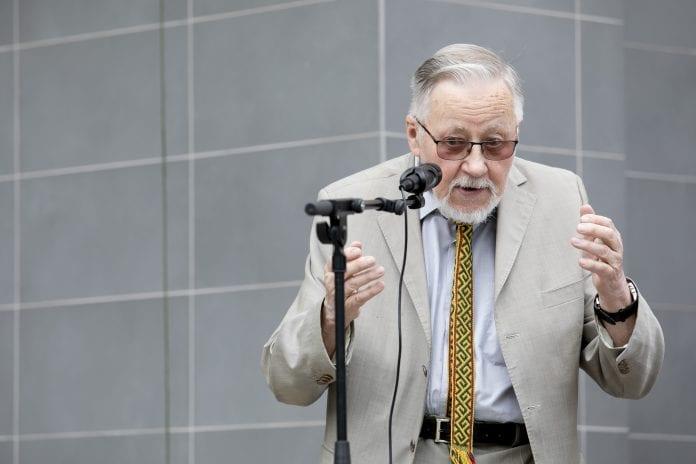 Lietuvos Aukščiausiosios Tarybos-Atkuriamojo Seimo pirmininkas ir vienas Sąjūdžio steigėjų prof. Vytautas Landsbergis