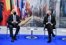 JAV lyderis Joe Bidenas ir LR Prezidentas Gitanas Nausėda