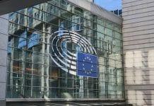 Europos Parlamento fasadas Briuselyje