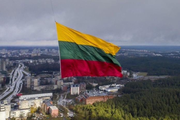 Lietuvos vėliava TV bokšte