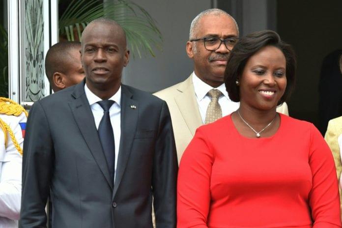 Haičio prezidentas Jovenelis Moisesas su žmona Martin