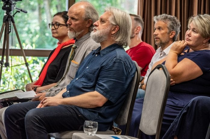 Dr. Giedrius Saulytis ir kiti renginio pranešėjai / Lino Atgalainio nuotr.