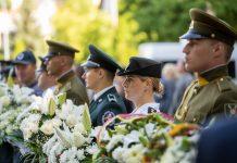 Medininkų žudynių minėjimas Antakalnio kapinėse