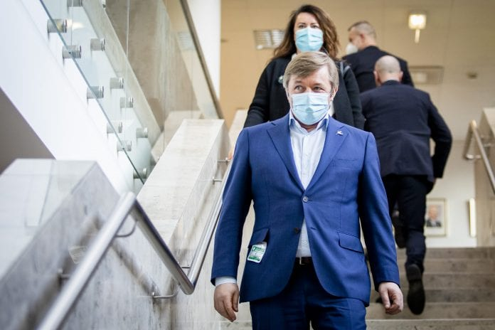 """Opozicinių """"valstiečių"""" lyderis Ramūnas Karbauskis"""
