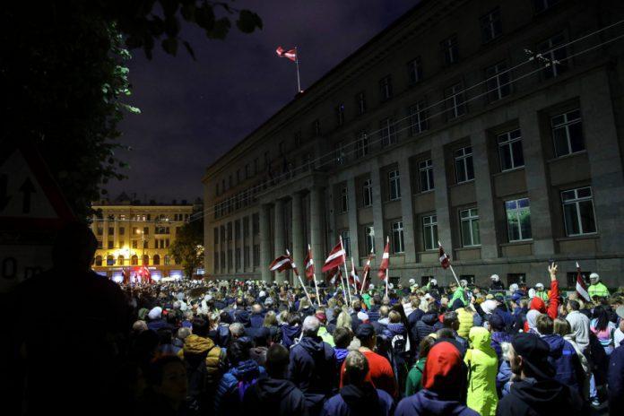 Protestas Rygoje, Latvijoje