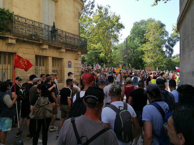 Protestas Prancūzijos pietuose