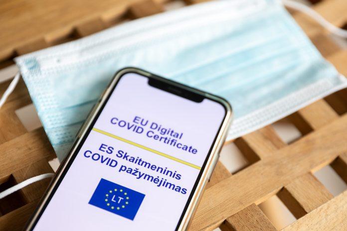 ES skaitmeninis COVID-19 pažymėjimas