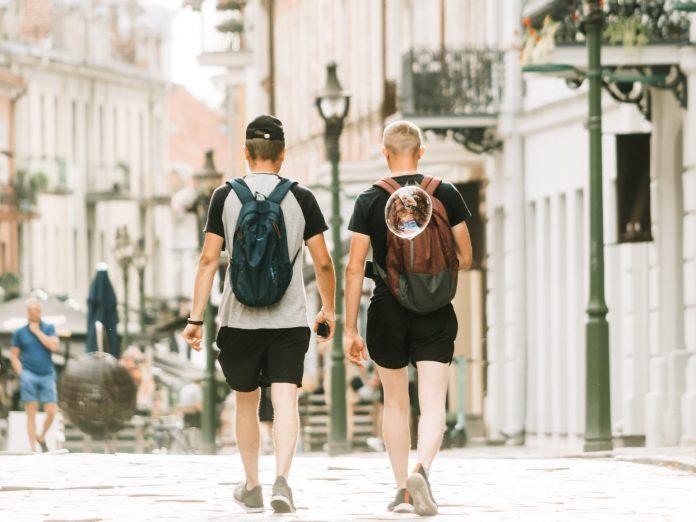 Turistai Vilniuje