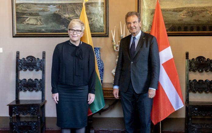 Ministrė Pirmininkė Ingrida Šimonytė su Maltos ordino