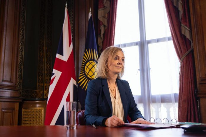 Didžiosios Britanijos diplomatijos vadovė Liz Truss
