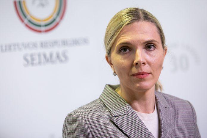 Vidaus reikalų ministrė Agnė Bilotaitė / BNS nuotr.