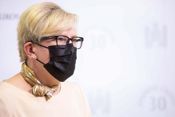 Lietuvos Respublikos Ministrė Pirmininkė Ingrida Šimonytė / BNS nuotr.
