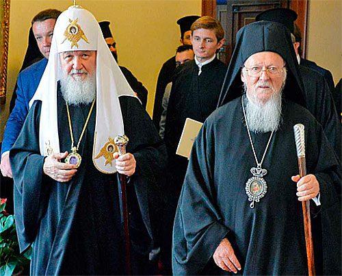 Maskvos ir Konstantinopolio patriarchai 2018 metų susitikime