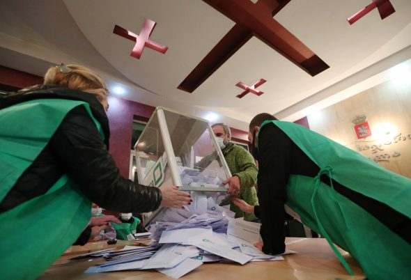 Rinkimai Sakartvele. REUTERS-Scanpix nuotr.