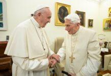 Popiežius Pranciškus ir popiežius emeritas Benediktas XVI