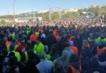 """Protestas prieš """"žaliuosius pasus"""" Trieste"""