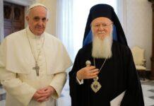 Popiežius Pranciškus ir patriarchas Baltramiejus